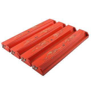 Red Lacquered Mah-jong Set