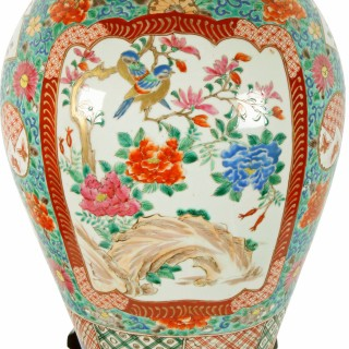 Early 20th Century Imari Table Lamp
