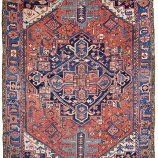 Antique Tribal Heriz carpet