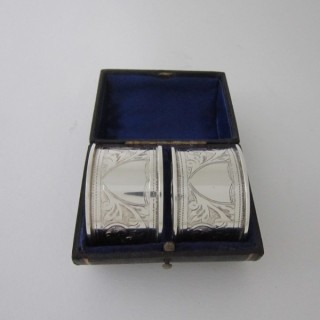 Antique George V Sterling silver napkin rings