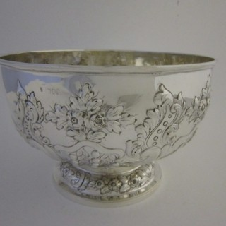 Antique Edwardian Sterling silver bowl