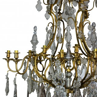 A LARGE CHANDELIER BY BACCARAT OF PARIS