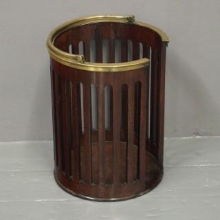George III Mahogany and Brass Bound Plate Bucket