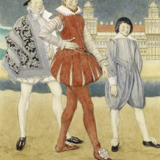 Norman Wilkinson - Mercutio and Benvolio - watercolour