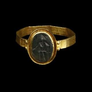Roman Ring with Intaglio of Mars