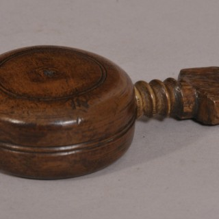 Antique Treen 19th Century Beech Pocket Nutcracker