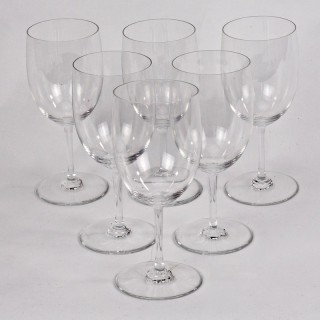 Six Baccarat 'Perfection' White Wine/ Water Glasses