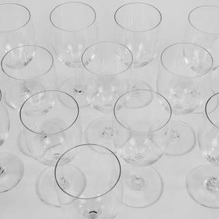 Twelve Baccarat 'Perfection' Red Wine Glasses
