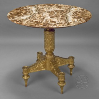 Giltwood Centre Table With an Alabastro Fiorito Top