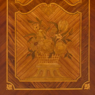 Marquetry Inlaid Three-Fold Screen