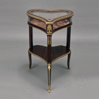Gilt-Bronze Mounted Mahogany Table Vitrine