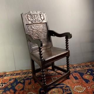 Oak Wainscot Chair C1680