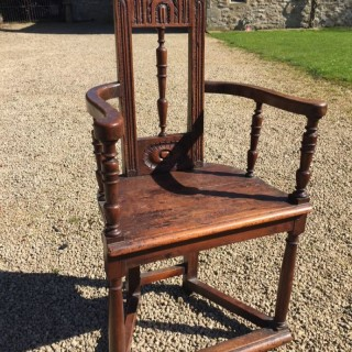 Antique Walnut Armchair 16th Century