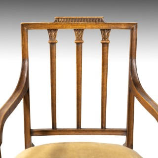 A Very Good and Original Set of 8 (6+2) George III Period Dining Chairs