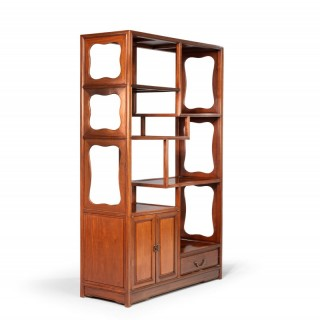 A Most Attractive Late 20th Century Oriental Hardwood Etagere