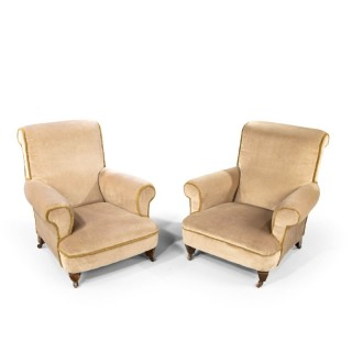 A Good Pair of Late 19th Century Easy Chairs