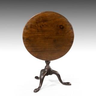 A Good George III Period Mahogany Tripod Table