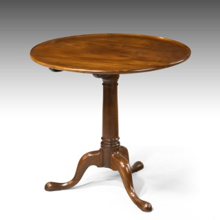 A George III Period Mahogany Tilt Topped Table