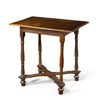 A Good Early Queen Anne Period Oak Side Table