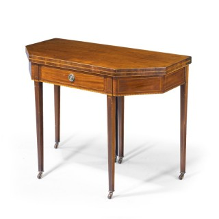 A Good Sheraton Period Mahogany Tea Table