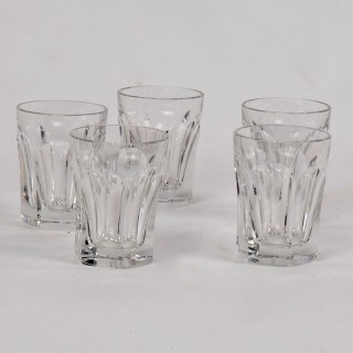 Five Baccarat Talleyrand Crystal Shot Glasses