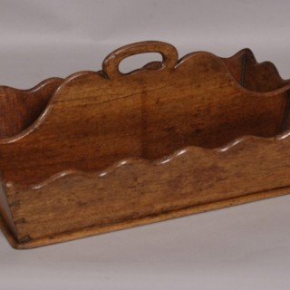 Antique 19th Century Mahogany Two Division Cutlery Tray