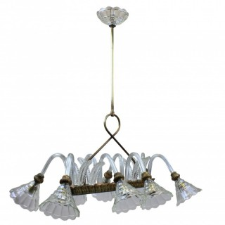 A 40'S RECTANGULAR PENDANT LIGHT BY BAROVIER