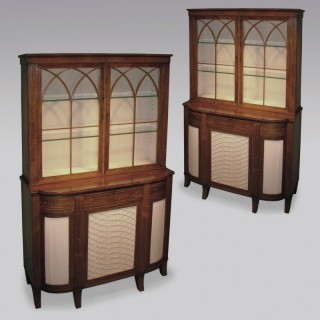 A  pair of Regency period rosewood Bookcases.