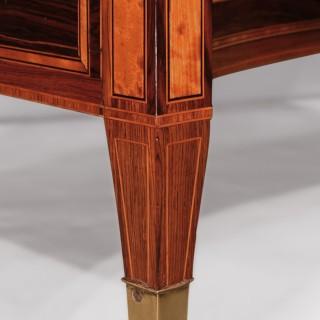 George III Rosewood Concave Door Cabinet