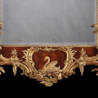 A Fine Looking Glass in the Mid Eighteenth Century Manner