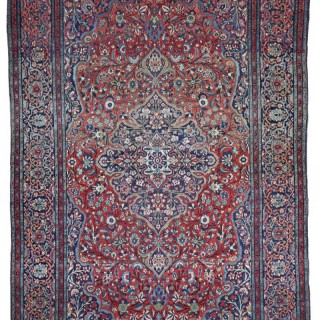 Antique Kashan rug, 'Ateshoglou' Mohtasham workshop