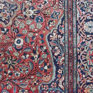 Antique Kashan rug, 'Ateshoglou' Mohtasham workshop