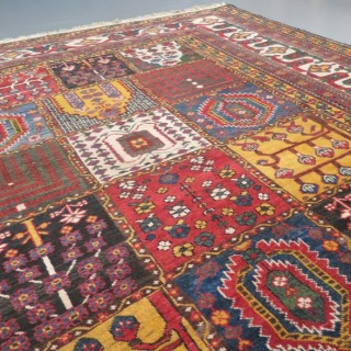 Striking square shape Baktiar carpet