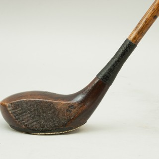 Antique Hickory Shafted Golf Club, Spoon by a. Dimon