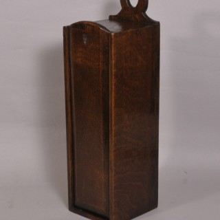 Antique 19th Century Welsh Oak Candle Box