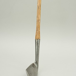 Hickory Shafted Golf Club Deep Faced Mashie, Gourlay, Carnoustie