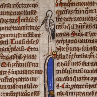 Medieval Bible Leaf from Britain