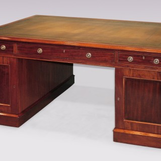 19th Century mahogany Partners Desk
