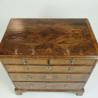 Good George II Burr Walnut Chest of Drawers