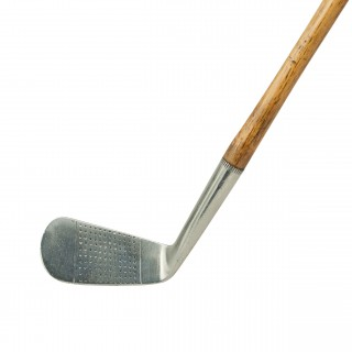 Hickory Golf Club, No.3 Iron by Gibson of Kinghorn, Calcutta.