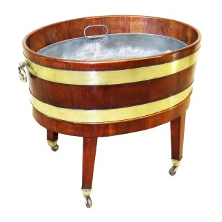 Georgian 18th Century Mahogany Oval Open Wine Cooler