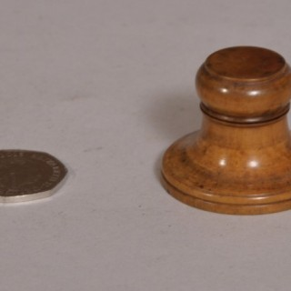 Antique Treen 19th Century Boxwood Watchmaker's Safety Box