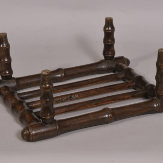 Antique 19th Century Oak Open Foot Stool