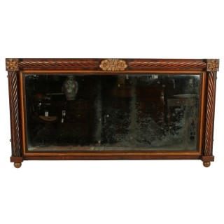 Regency Rosewood Overmantel Mirror
