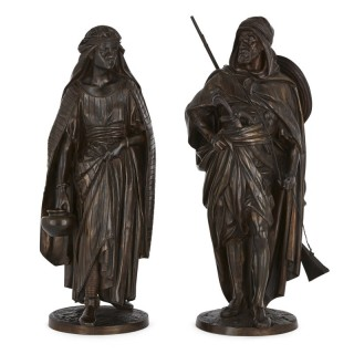 Bronze Orientalist sculptures by Salmson