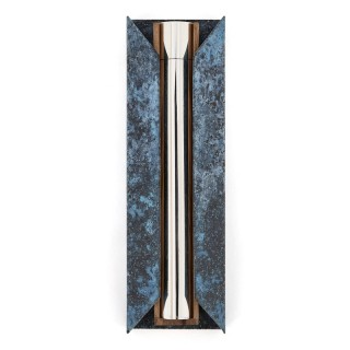Contemporary English silver mezuzah by Rebecca de Quin