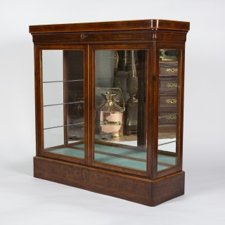 glass fronted 2 door display cabinet