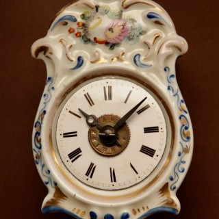 A Rare Black Forest Miniature Jockele Wall Clock, Circa 1860.