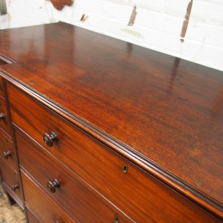 Large George IV Mahogany Breakfront Chest of Drawers