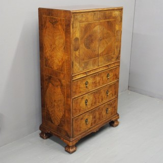Walnut and Inlaid Cabinet by Whytock and Reid